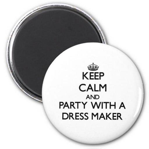 Guarde la calma y vaya de fiesta con un fabricante imán redondo 5 cm