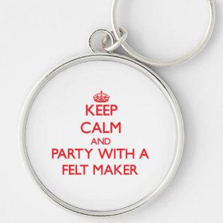 Guarde la calma y vaya de fiesta con un fabricante llaveros