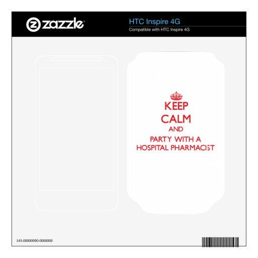 Guarde la calma y vaya de fiesta con un farmacéuti calcomanías para HTC inspire 4G
