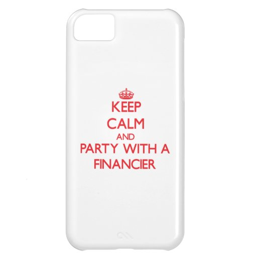 Guarde la calma y vaya de fiesta con un financiero funda para iPhone 5C