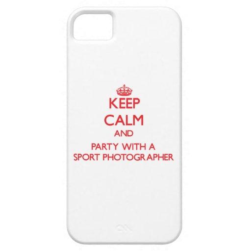 Guarde la calma y vaya de fiesta con un fotógrafo  iPhone 5 Case-Mate protector