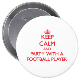 Guarde la calma y vaya de fiesta con un futbolista pins