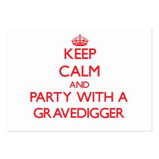 Guarde la calma y vaya de fiesta con un Gravedigge Tarjeta De Visita