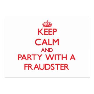 Guarde la calma y vaya de fiesta con un impostor plantilla de tarjeta de negocio