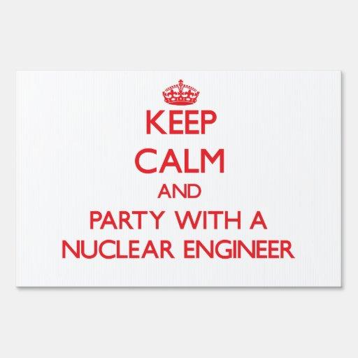 Guarde la calma y vaya de fiesta con un ingeniero
