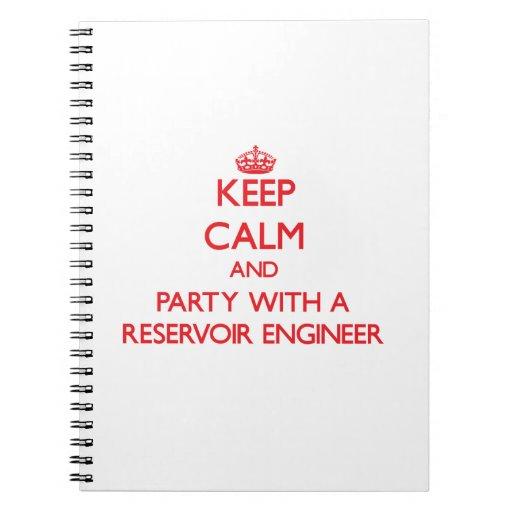 Guarde la calma y vaya de fiesta con un ingeniero  libreta espiral