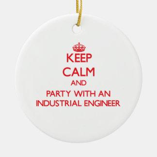 Guarde la calma y vaya de fiesta con un ingeniero  adorno de reyes