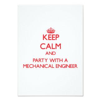 Guarde la calma y vaya de fiesta con un ingeniero comunicados personales