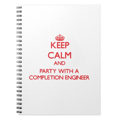 Guarde la calma y vaya de fiesta con un ingeniero  cuadernos