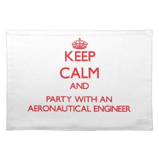 Guarde la calma y vaya de fiesta con un ingeniero  mantel