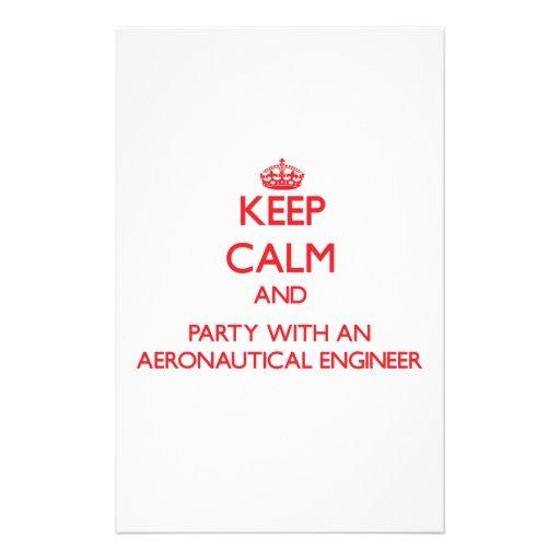 Guarde la calma y vaya de fiesta con un ingeniero   papeleria de diseño
