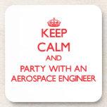 Guarde la calma y vaya de fiesta con un ingeniero  posavaso