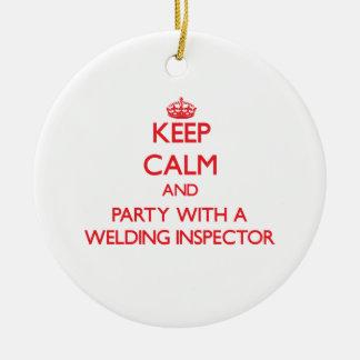 Guarde la calma y vaya de fiesta con un inspector ornamento para reyes magos