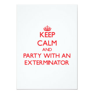 Guarde la calma y vaya de fiesta con un invitación 12,7 x 17,8 cm