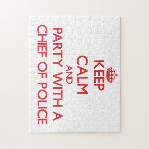 Guarde la calma y vaya de fiesta con un jefe de po puzzles con fotos