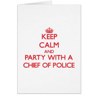 Guarde la calma y vaya de fiesta con un jefe de po tarjetas