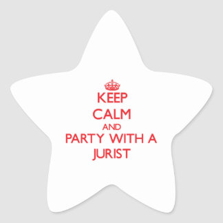 Guarde la calma y vaya de fiesta con un jurista calcomanías forma de estrella personalizadas