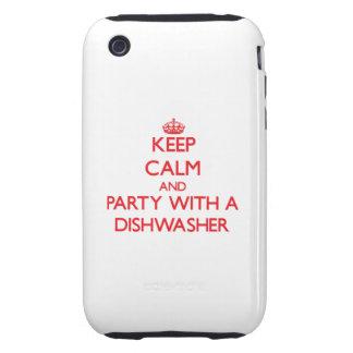 Guarde la calma y vaya de fiesta con un lavaplatos tough iPhone 3 protector