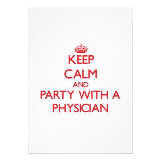 Guarde la calma y vaya de fiesta con un médico comunicados