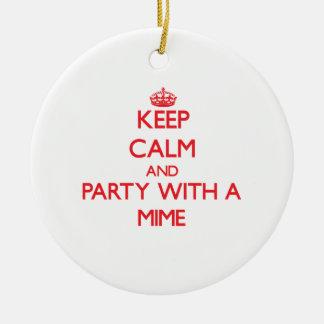 Guarde la calma y vaya de fiesta con un Mime Ornamento Para Reyes Magos
