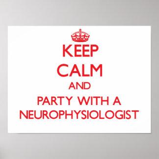 Guarde la calma y vaya de fiesta con un neurofisió impresiones