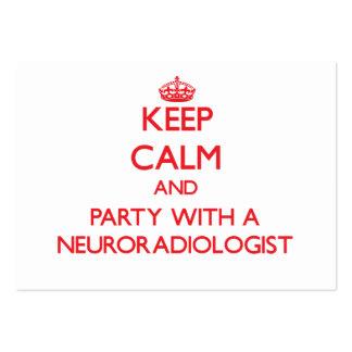 Guarde la calma y vaya de fiesta con un neuroradió tarjetas de visita