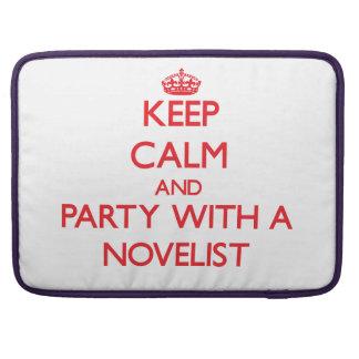 Guarde la calma y vaya de fiesta con un novelista funda para macbooks