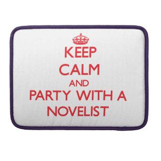 Guarde la calma y vaya de fiesta con un novelista fundas para macbook pro