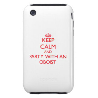Guarde la calma y vaya de fiesta con un oboe iPhone 3 tough funda