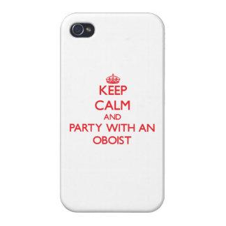 Guarde la calma y vaya de fiesta con un oboe iPhone 4 fundas
