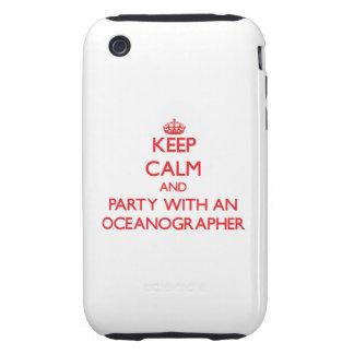 Guarde la calma y vaya de fiesta con un oceanógraf iPhone 3 tough protector