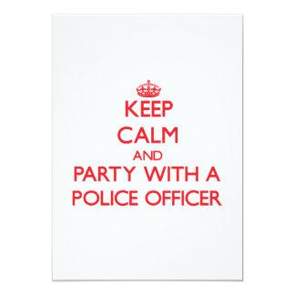 """Guarde la calma y vaya de fiesta con un oficial de invitación 5"""" x 7"""""""