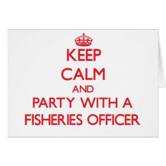 Guarde la calma y vaya de fiesta con un oficial de tarjeta de felicitación