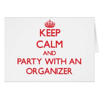 Guarde la calma y vaya de fiesta con un organizado tarjetas