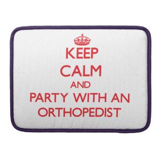 Guarde la calma y vaya de fiesta con un ortopedist funda macbook pro