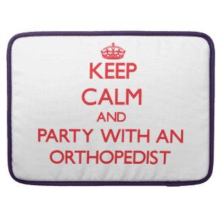 Guarde la calma y vaya de fiesta con un ortopedist funda para macbook pro