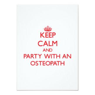 Guarde la calma y vaya de fiesta con un osteópata invitación