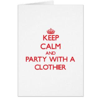 Guarde la calma y vaya de fiesta con un panero tarjeta