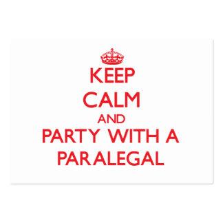 Guarde la calma y vaya de fiesta con un Paralegal Tarjeta De Visita