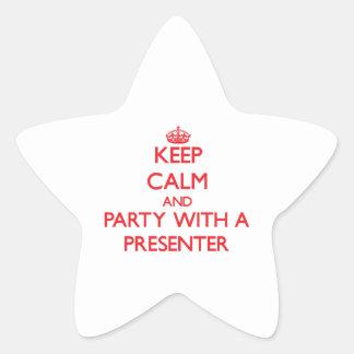 Guarde la calma y vaya de fiesta con un calcomanía forma de estrellae