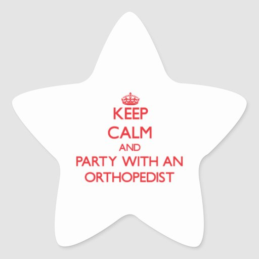 Guarde la calma y vaya de fiesta con un pegatina en forma de estrella