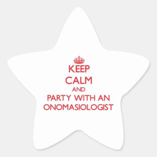 Guarde la calma y vaya de fiesta con un pegatina forma de estrella
