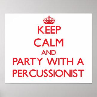 Guarde la calma y vaya de fiesta con un Percussion Poster