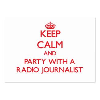 Guarde la calma y vaya de fiesta con un periodista tarjetas de visita