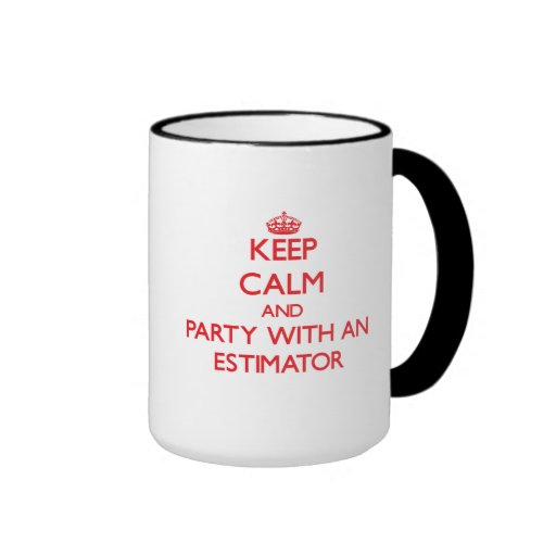 Guarde la calma y vaya de fiesta con un perito tazas de café