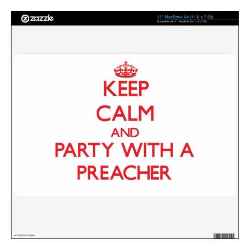 Guarde la calma y vaya de fiesta con un predicador 27,9cm MacBook air calcomanía