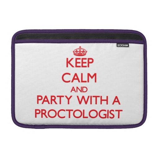Guarde la calma y vaya de fiesta con un Proctologi Fundas Macbook Air