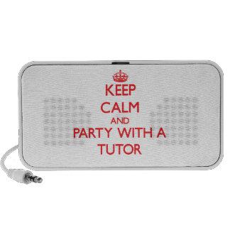 Guarde la calma y vaya de fiesta con un profesor p altavoces