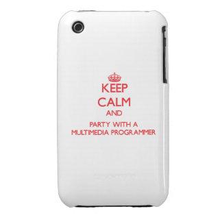 Guarde la calma y vaya de fiesta con un programado iPhone 3 Case-Mate cárcasa