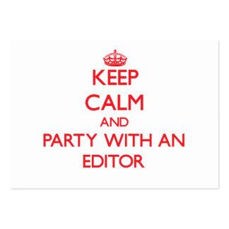 Guarde la calma y vaya de fiesta con un redactor tarjetas de visita grandes